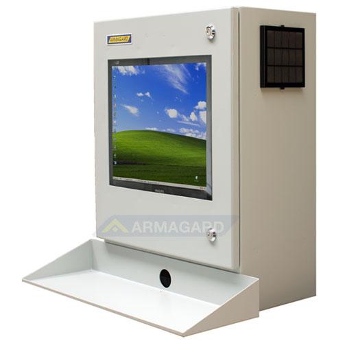 mensola porta computer : Armadio porta PC (pc enclosure) PENC-300 - immagine laterale sinistra ...