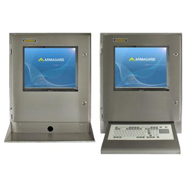 Armadio computer IP65 (waterproof computer enclosure)? con ripiano porta tastiera o mensola frontale con tastiera integrata | SENC 700