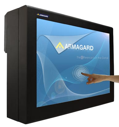 Touch screen enclosure per Digital signage