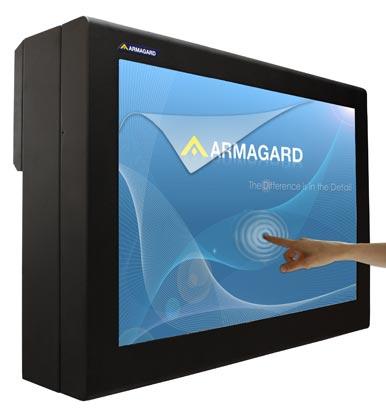 Touch screen enclosure per Digital signage